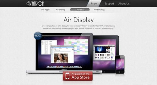 Showcase of Creative Website Designs for iPad Apps