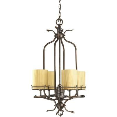 Thomasville Lighting Willow Creek Collection 4 Light Weathered Auburn Foyer Pendant P3908 114 At The Home Depot On 80