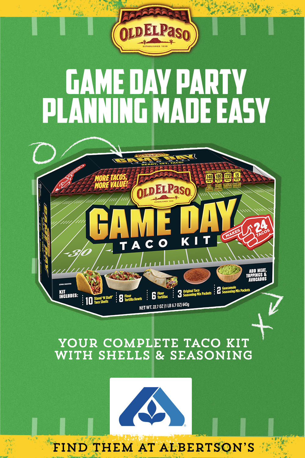 Make Game Day Planning Simple With A Game Day Taco Kit From Old El Paso Complete With Taco Shells Tortilla Bowls Taco Kit Taco Stuffed Shells Tortilla Bowls