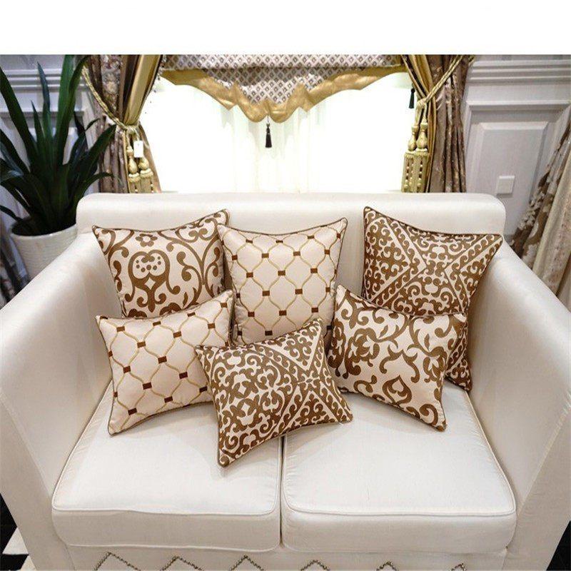 Bz153 Luxe Housse De Coussin Taie D Oreiller Broderie Europeenne Coussins Decor A La Maison Canape D Luxury Outdoor Chair Outdoor Chair Cushions Chair Cushions