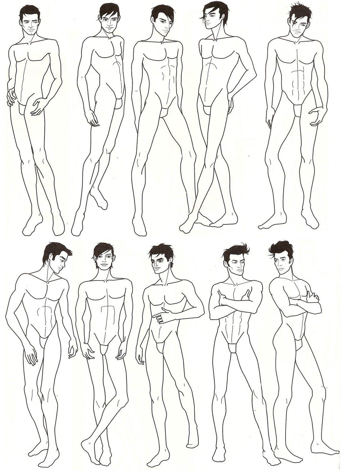 Donno W B Desenhar Homens Croquis Figure Sketching Fashion