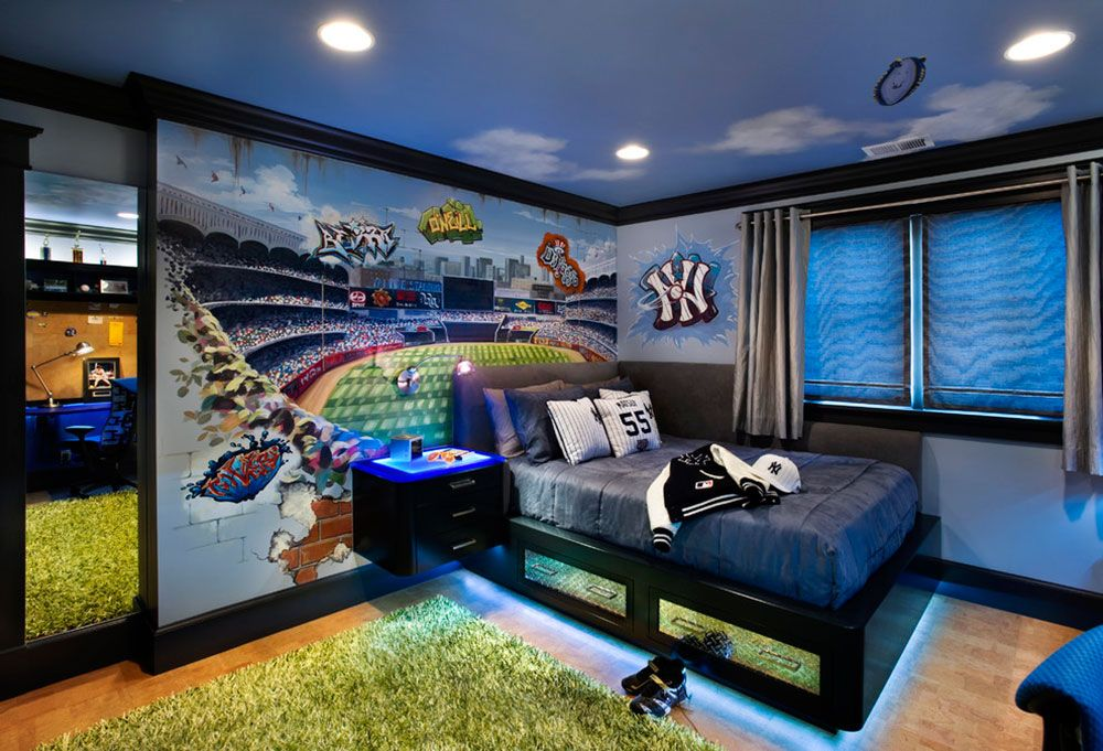 Cool And Cozy Boys Room Paint Ideas11