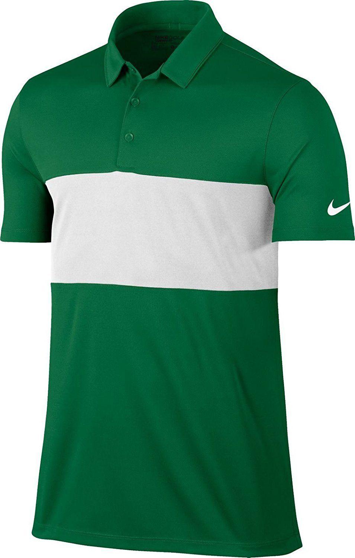 81b8fae7 Nike Men's Breathe Color Block Golf Polo (Pine Green/White) | polo ...