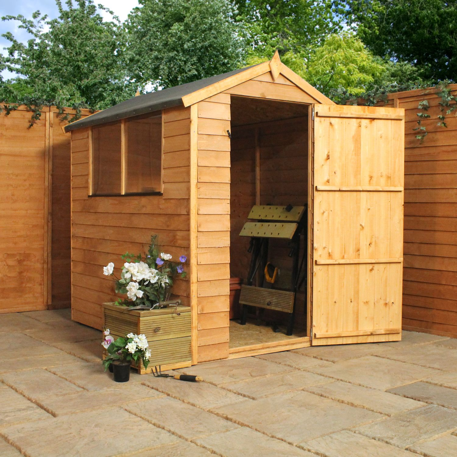 winchester 6ft x 4ft 178m x 119m overlap apex shed shedsworld