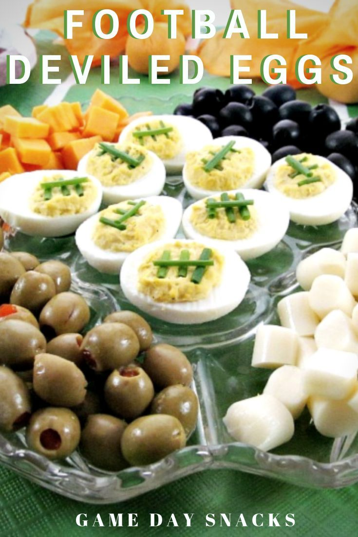 Football Deviled Eggs #gamedayfood
