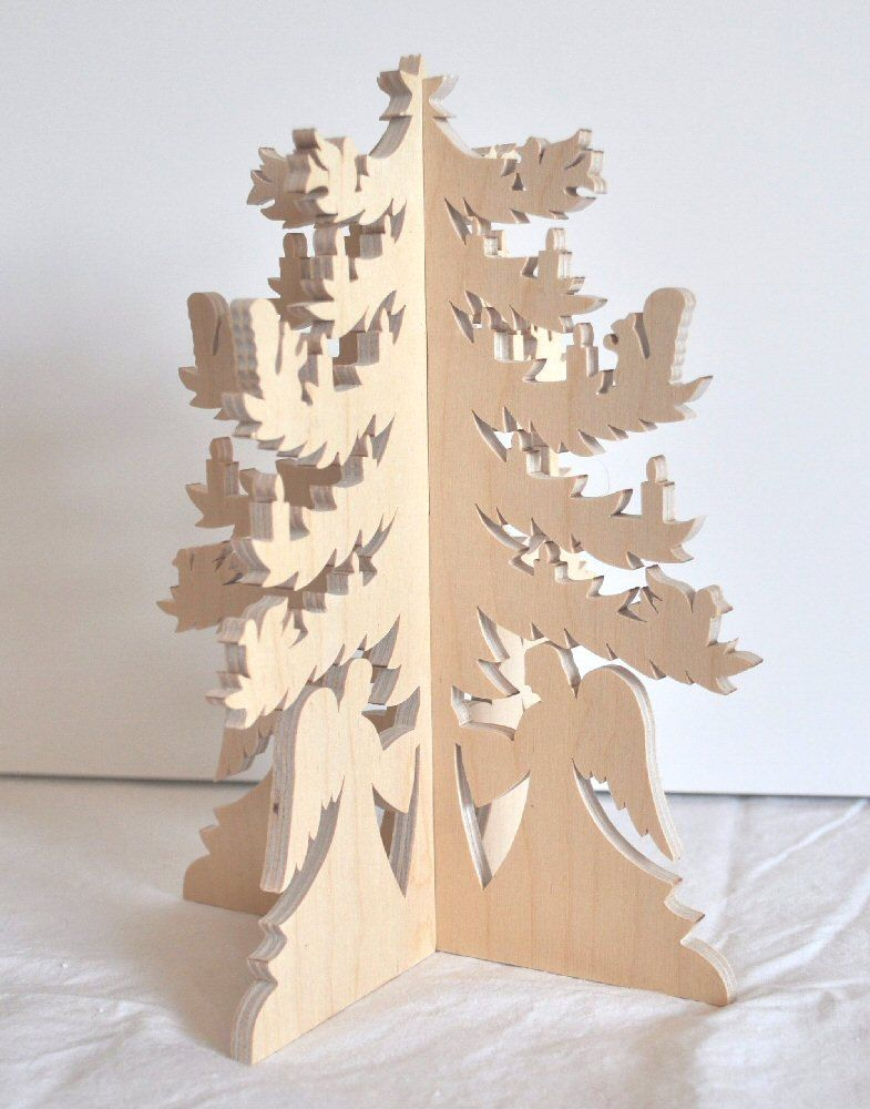 scroll saw christmas projects. christmas tree wood fretwork birch holiday decoration scroll saw wooden angel decor. $18.00, via projects k