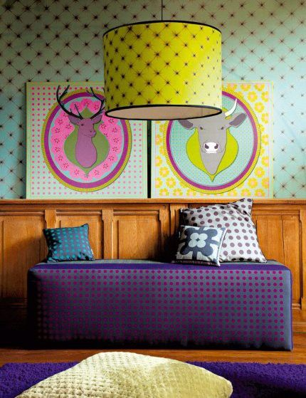 bold and colourful room