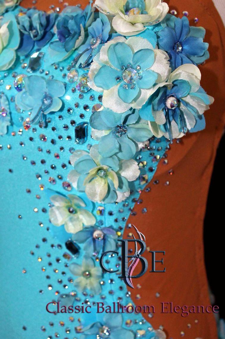 Stoning on Custom Smooth Dress by Classic Ballroom Elegance - Luxury Ballroom Dress Rentals, Sales & Consignments http://www.cberentals.com