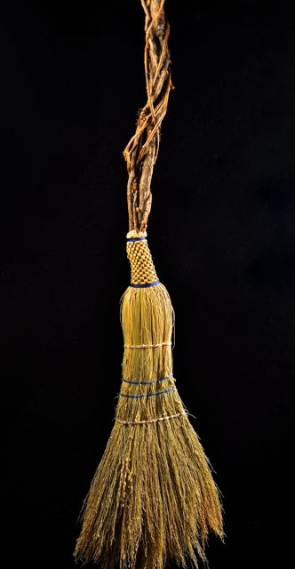 Appalachian handmade Broom corn housewarming besom by Mark Hendry