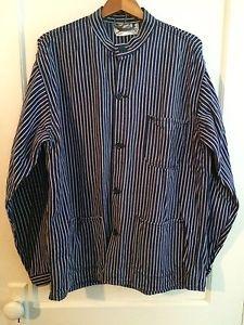 9c125030 VTG SANFORIZED engineer railroad hickory stripe chore jacket work ...