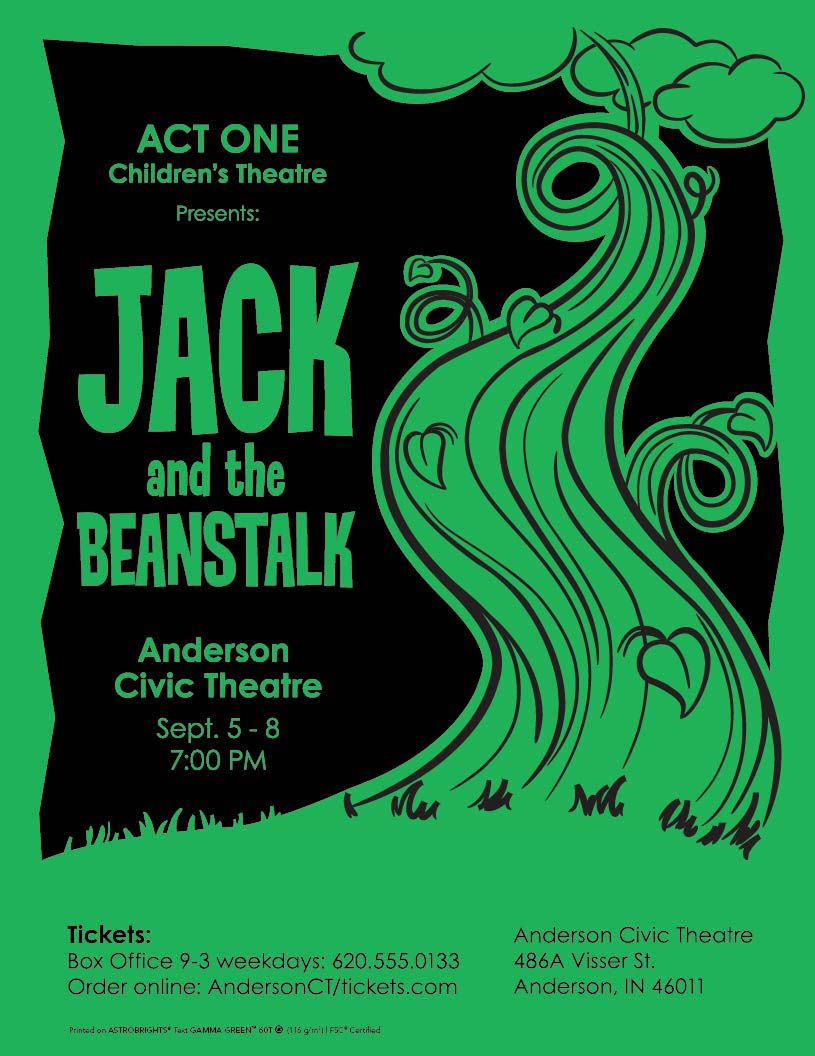 Jack and the Beanstalk poster designed for Neenah Paper