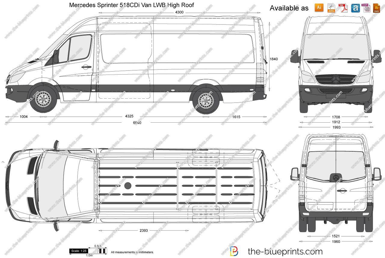 Mercedes Sprinter Van Interior Dimensions 7 In 2020 Mercedes