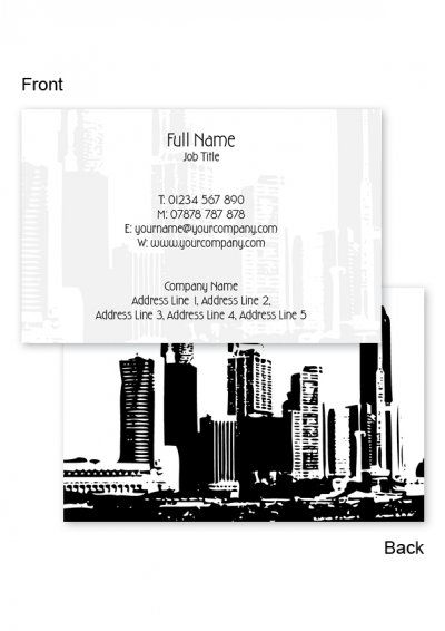 Skyline Business Cards Free Business Card Templates From Www Printrepublic Co Uk Free Business Card Templates Business Cards Online Free Business Cards