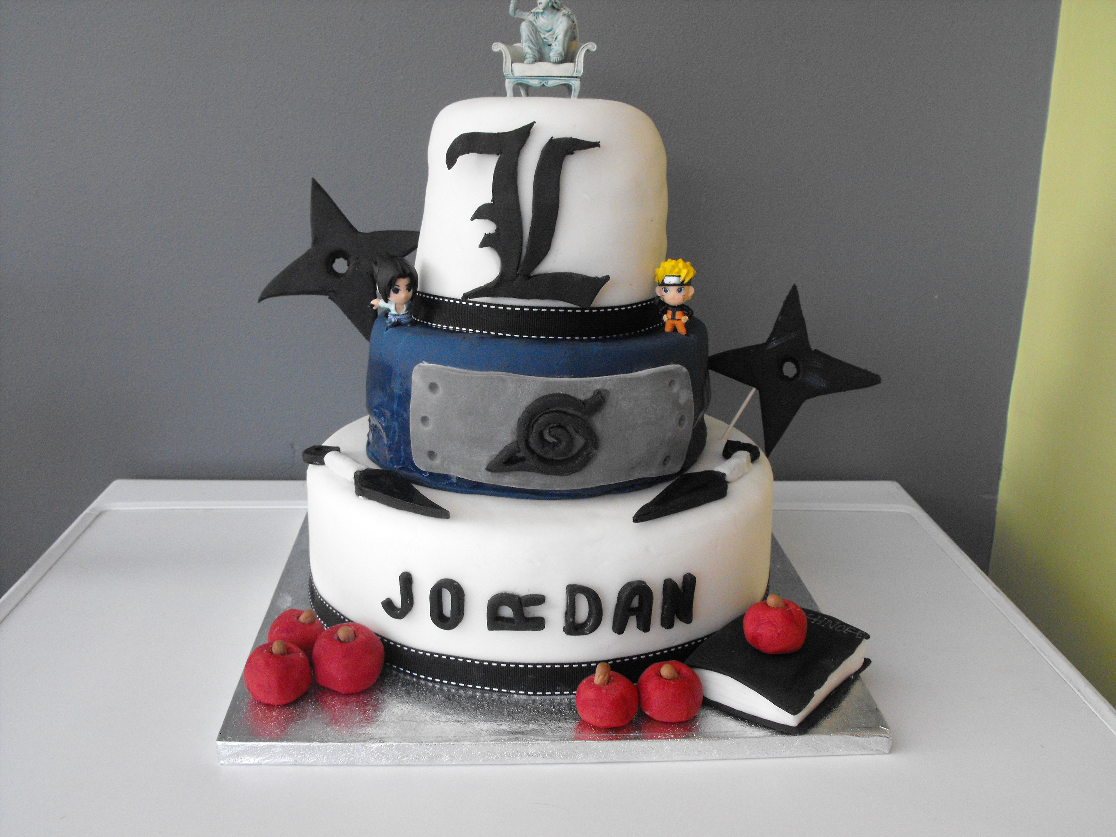 Birthday cake for a Anime Fans Party Ideas Pinterest