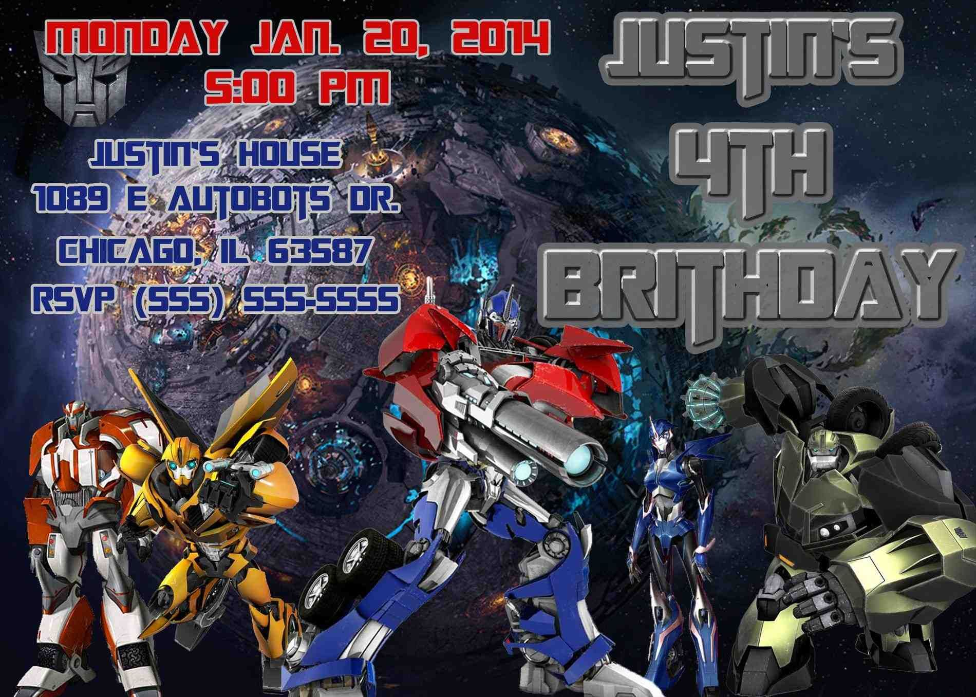 transformer invitation bumblebee invitation bumblebee birthday