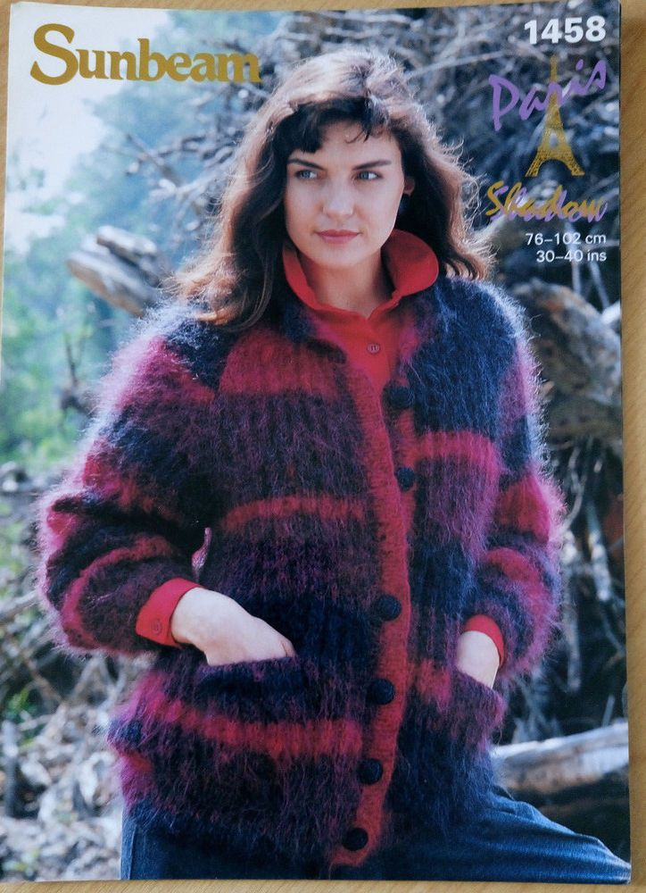 Women\'s Mohair Ribbed Jacket Sunbeam 1458 knitting pattern #Sunbeam ...