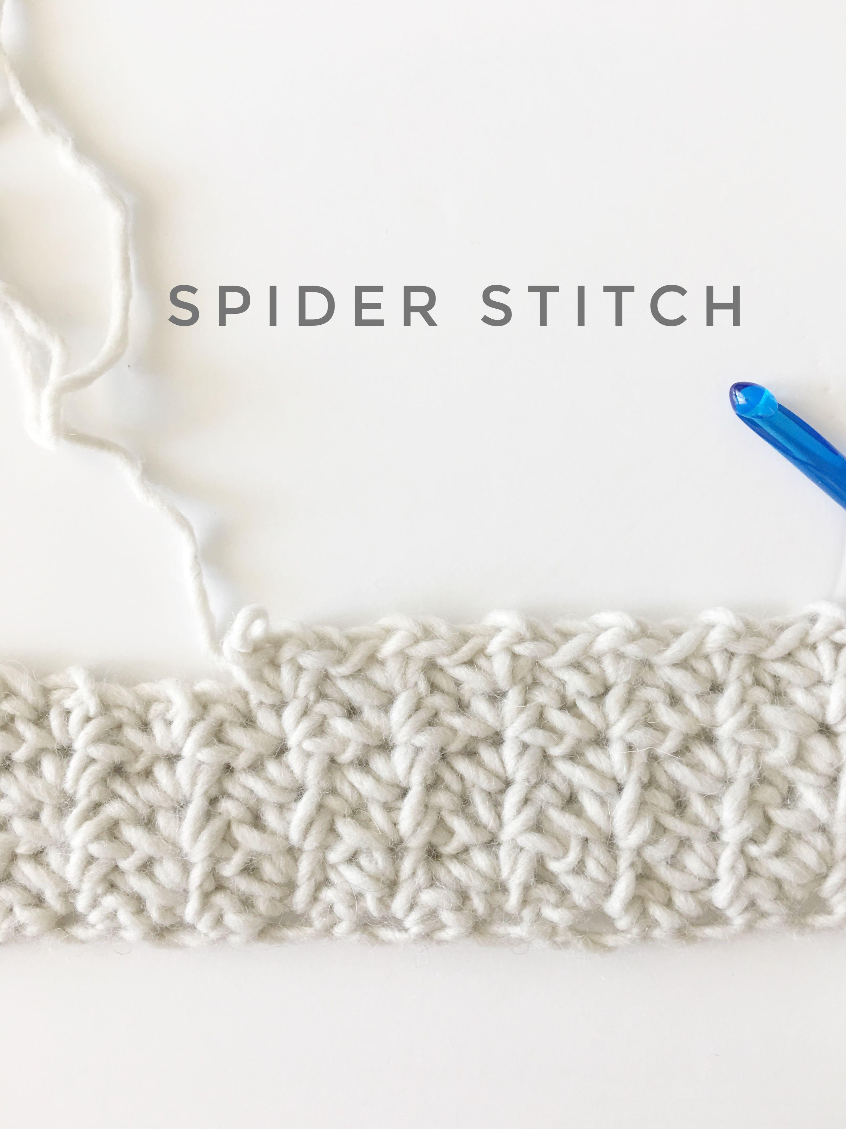 Spider Stitch - Daisy Farm Crafts | Crochet stitches~♤ | Pinterest ...