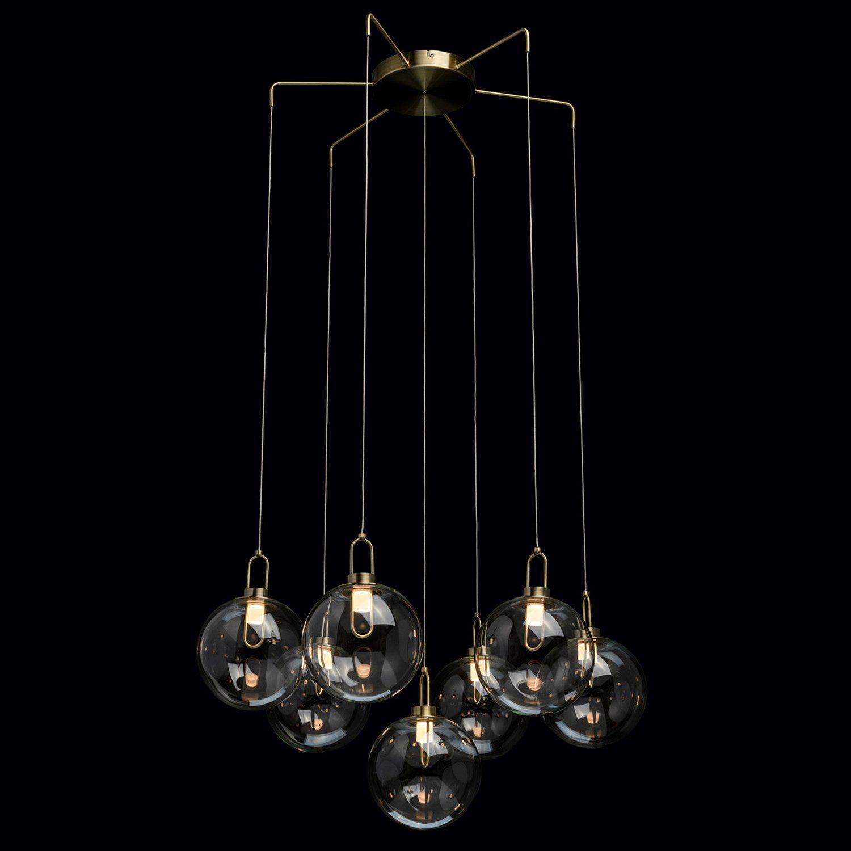 Pendelleuchte Hängeleuchte OPEN 4 Schirme Silber Antik Look