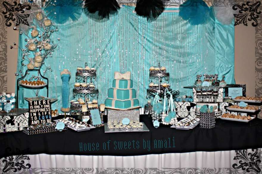 damask and tiffany blue bridalwedding shower party ideas photo 1 of 45 catch my party