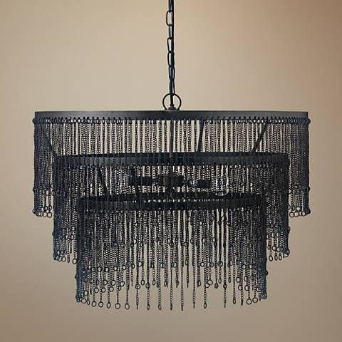Jamie young large link 26w iron three tier pendant light pendant jamie young large link 26w iron three tier pendant light aloadofball Image collections