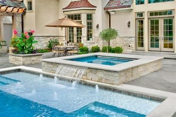 Rectangular Pool Designs With Spa lisa stephens sun shelf with bubble up jets! rectangular pool