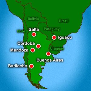 A Map Of Argentina And Its Cities Argentinas Capital Is Buenos - Argentina cities map