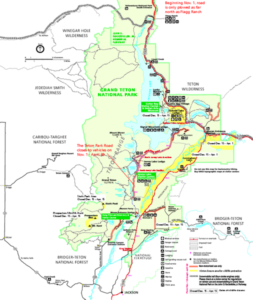 Grand Teton NP map i love the Tetons Travel Ideas Pinterest