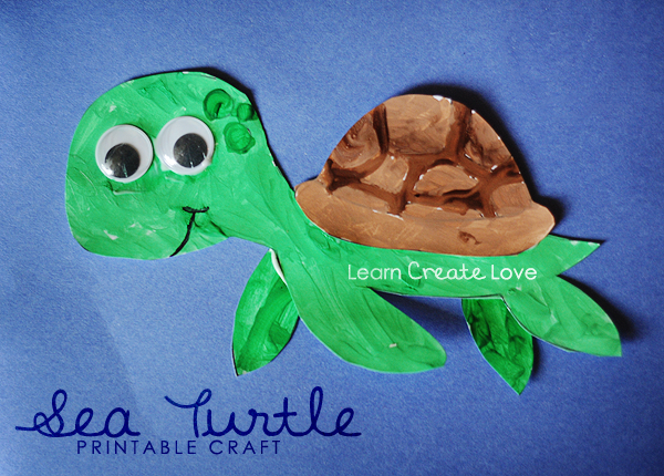 Printable Sea Turtle Craft + many other free printables on this ...