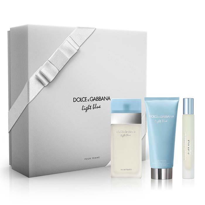 40e4c470cd Dolce & Gabbana Light Blue EDT 100ml, BodyCream 100ml, Rollerball 7.4ml  Gift Set