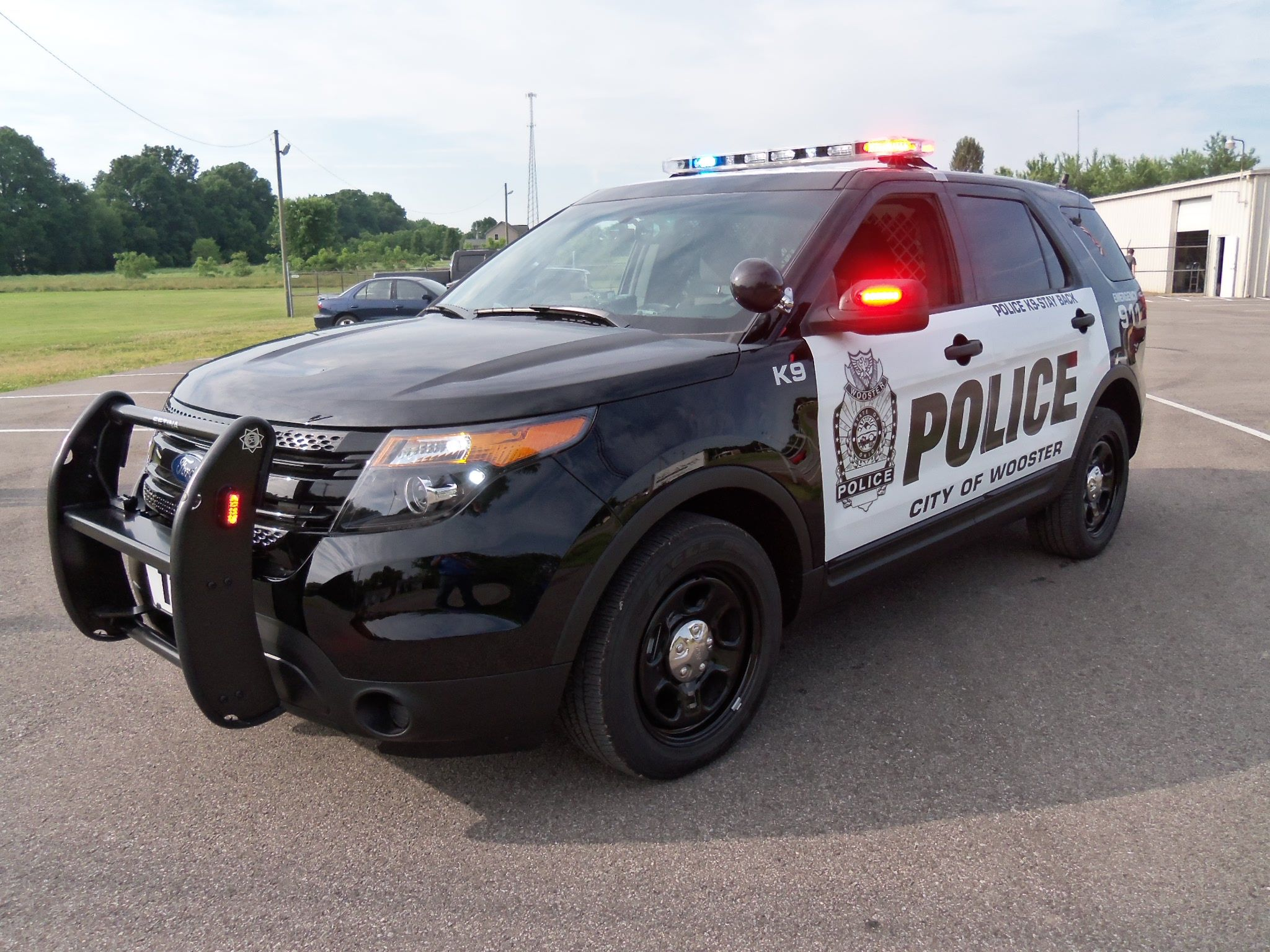 Ford police interceptor utility vehicle wooster ohio police department this vehicle has a