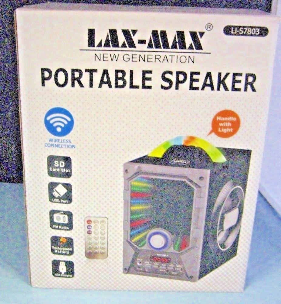 Lax Max Portable Speaker LI-S9 with Box Grey  Portable speaker