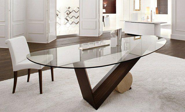 Table De Salle A Manger De Design Italien Par Cattelan Italia Table Salle A Manger Table A Manger En Verre Table Ovale