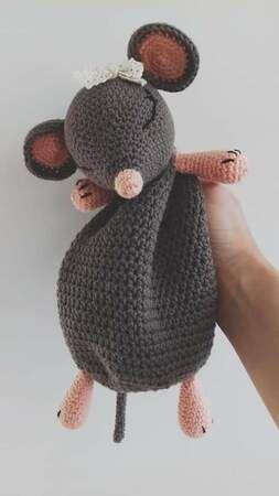 Maus häkeln // Spitzmaus-Männchen häkeln