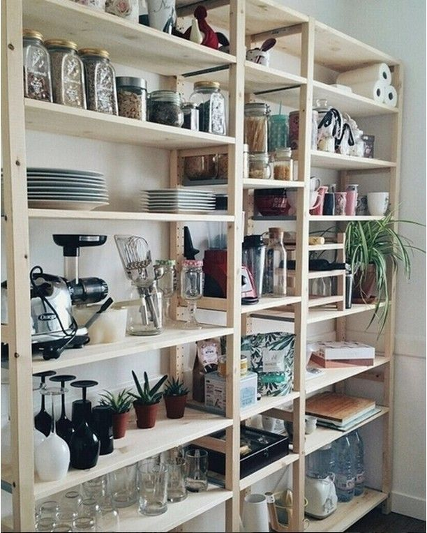 Kitchen Pantry Cabinet Organization Ideas Plate Rack Shelf: Ikea 'Ivar' Shelf @lililou04 Via @ikeafrance
