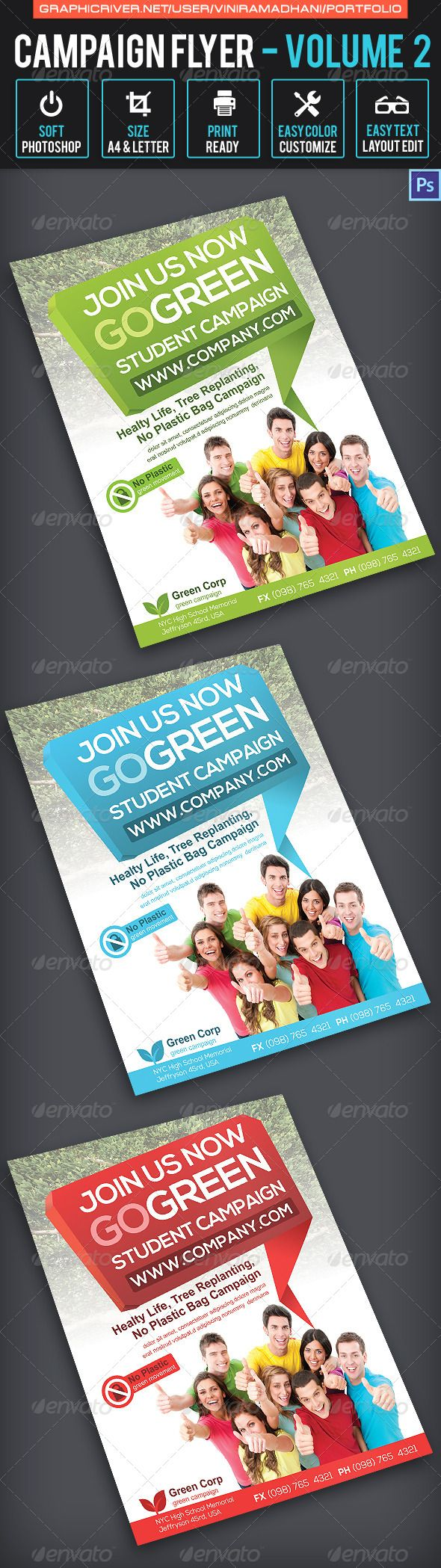 Campaign Flyer  Volume   Psd Templates Business Flyers And