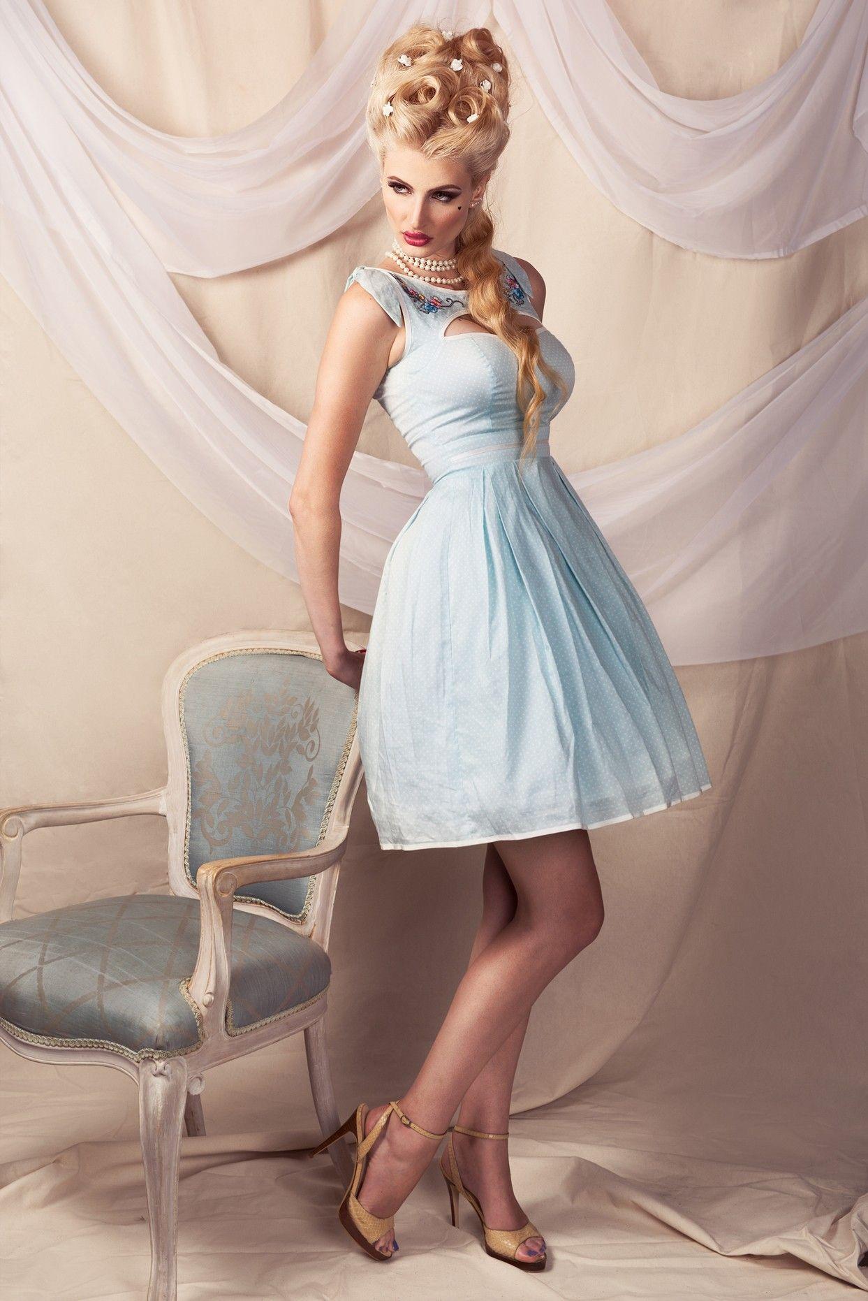 One Two Buckle My Shoe Peekaboo Dress