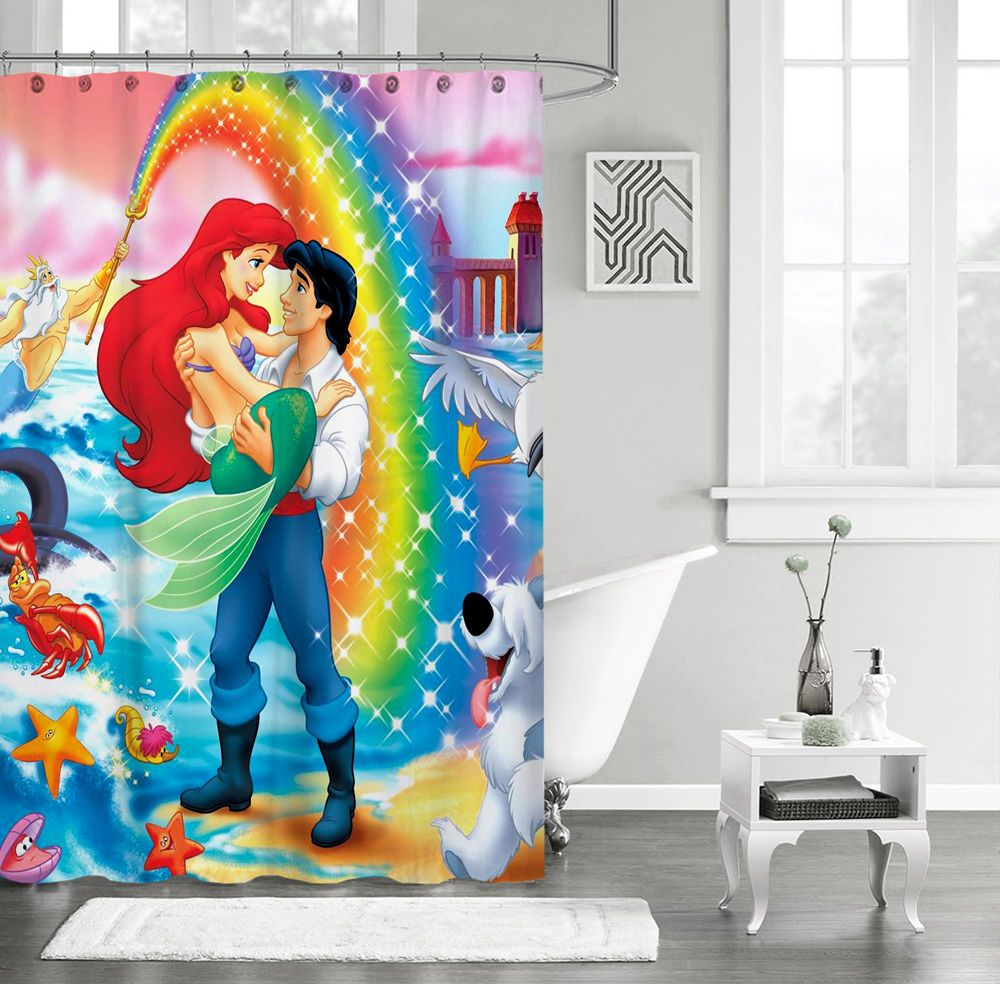 Ariel Shower Curtain New The Little Mermaid Disney Princess Cartoon Custom Shower