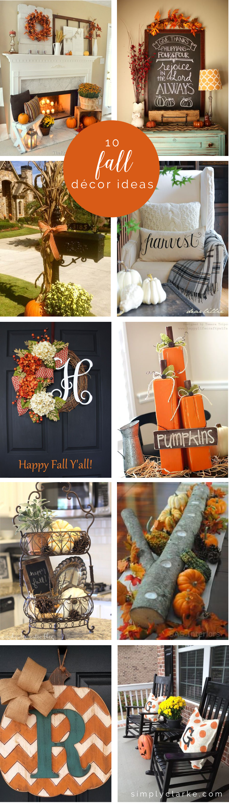 10 Fall Decor Ideas - Simply Clarke