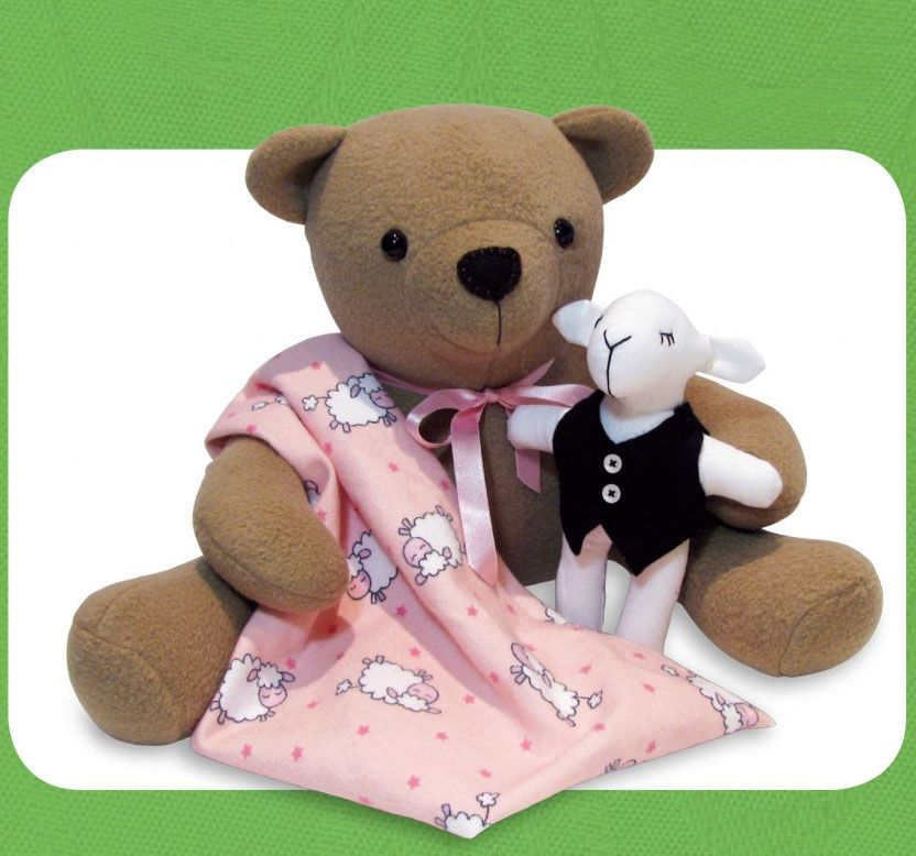 IZZY INSOMNIAC TEDDY SOFT TOY SEWING PATTERN From Funky Friends Factory NEW