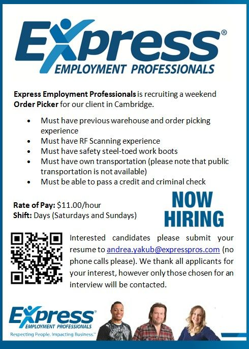Job Opportunities With Express Employment Professionals Expressions Employment Staffing Company