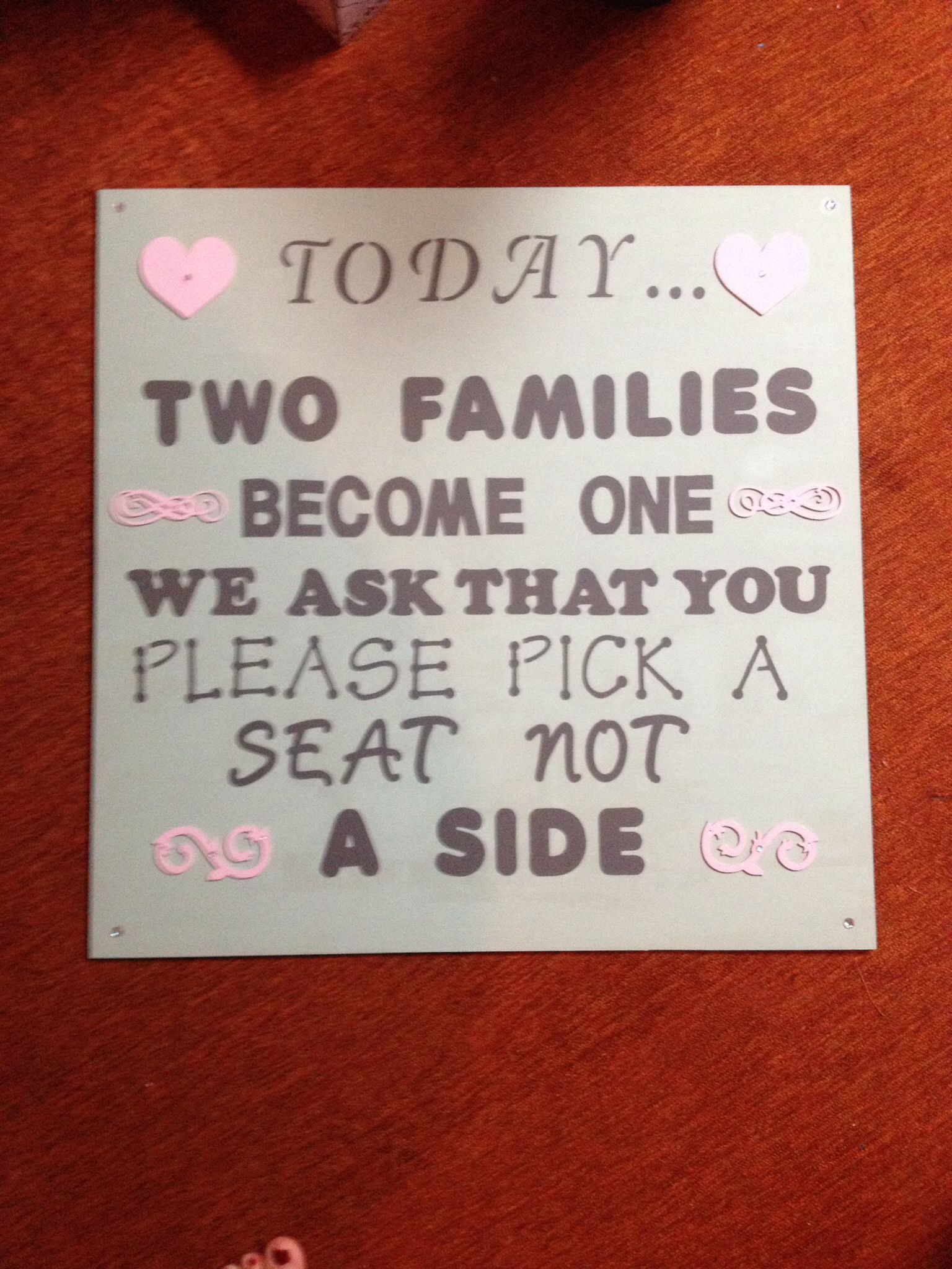 Mixed font sign for my friend\'s wedding. I used a yard stick to ...