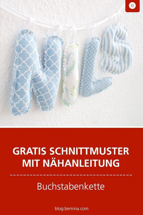 Coudre vous-même la chaîne de lettres pour bébé (instructions de couture gratuites)   – Accessoires für Baby und Kinder