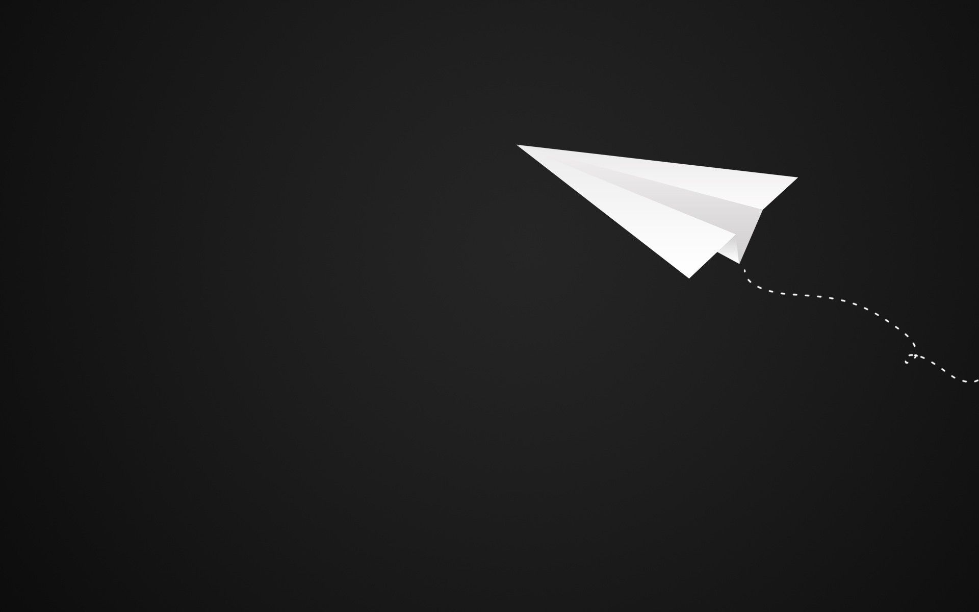 minimalistic monochrome paper plane / 1920x1200 wallpaper | the