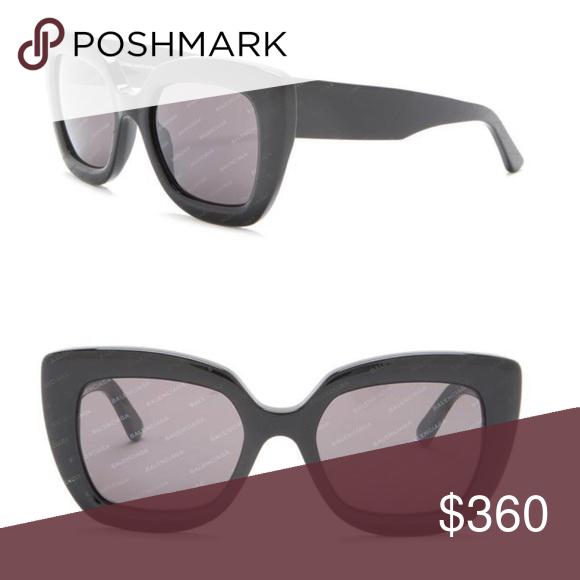 d5e3f986df1d NEW Balenciaga sunglasses Bold, blocky cat-eye frames define gradient-lens  sunglasses printed