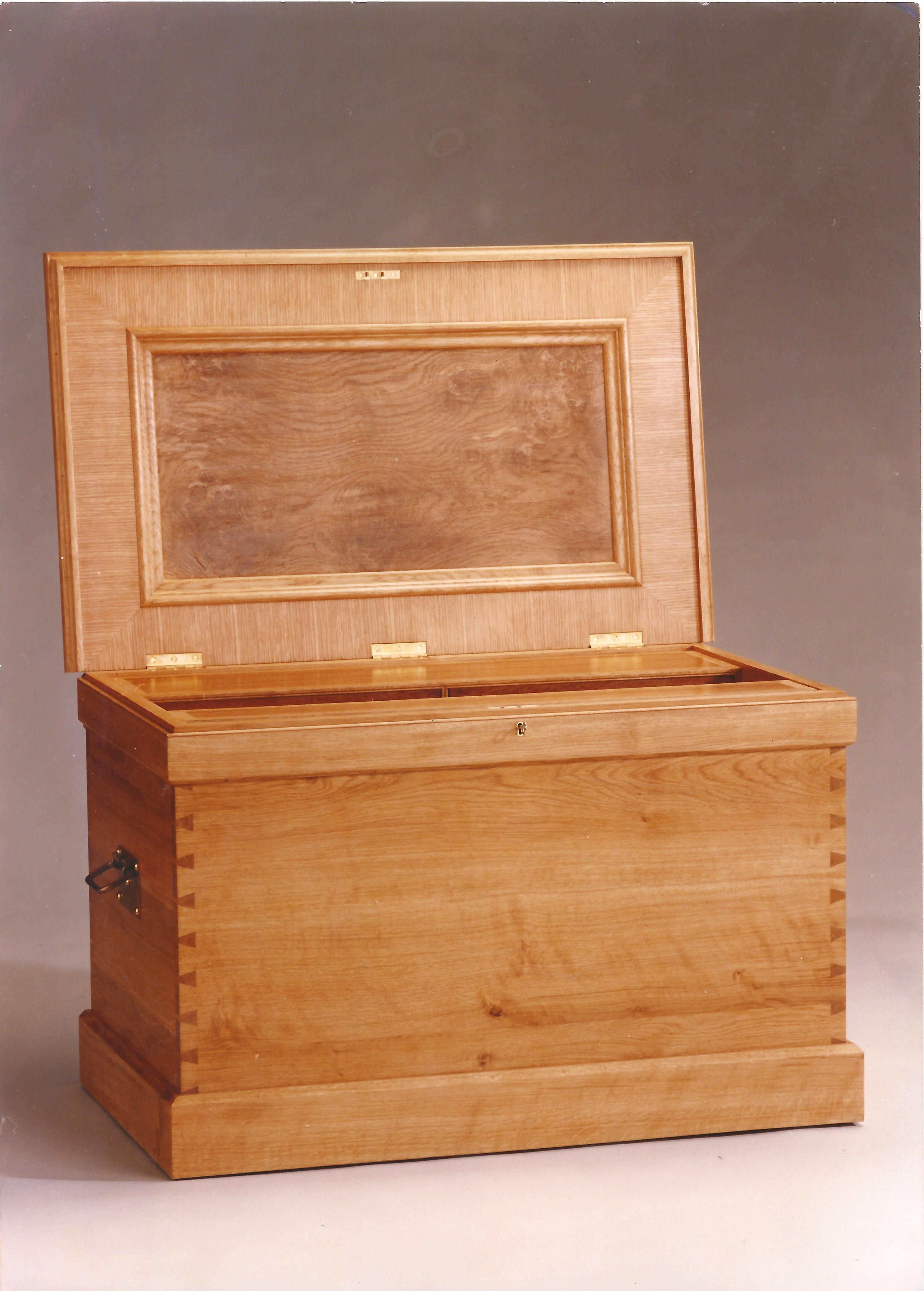 My tool box. This is a replica Cabinetmakers tool chest (C