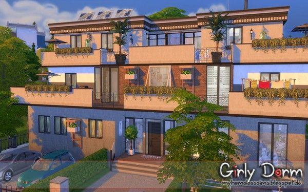 Homeless Sims Girly Dorm Girly Dorm Sims 4 Sims House