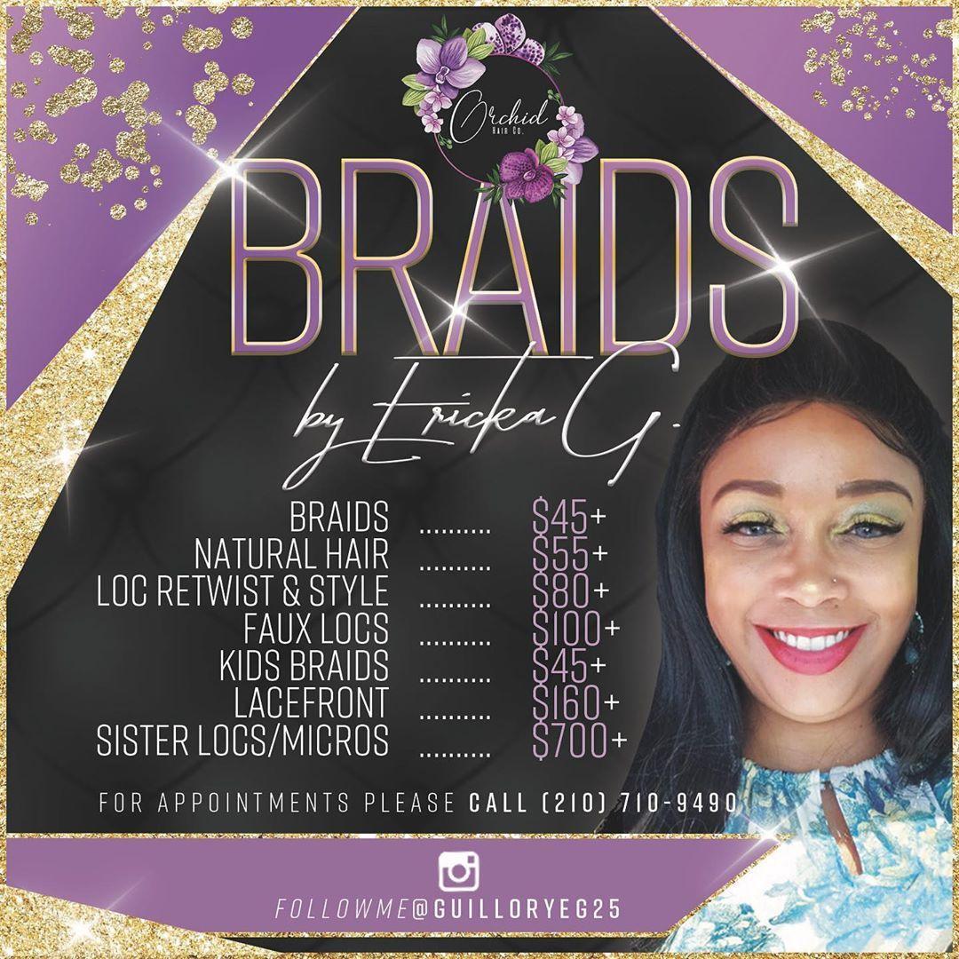 Meet our Stylists  ! Ericka G @guilloryeg25 #braids #kidsbraids #menbraids #locretwist #passiontwist #crotchetbraids #lacefrontal #wigs #hairextensions #crotchetbraids