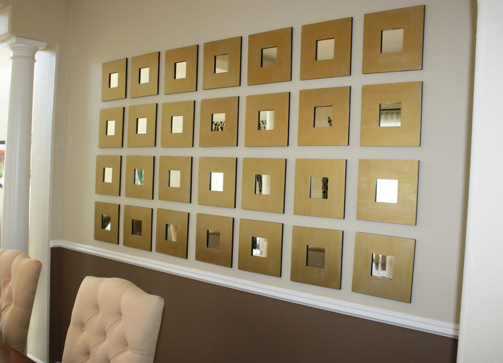 Ikea malma wall decoration made by me pinterest wall transformations by design mirrored wall project amipublicfo Gallery