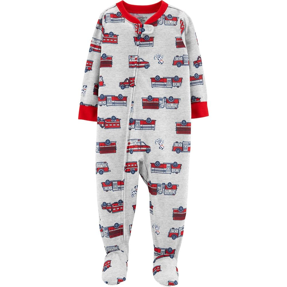 Toddler Boy Carter S Fire Truck Ambulance Footed Pajamas Carters Baby Boys Clothes Carters Baby