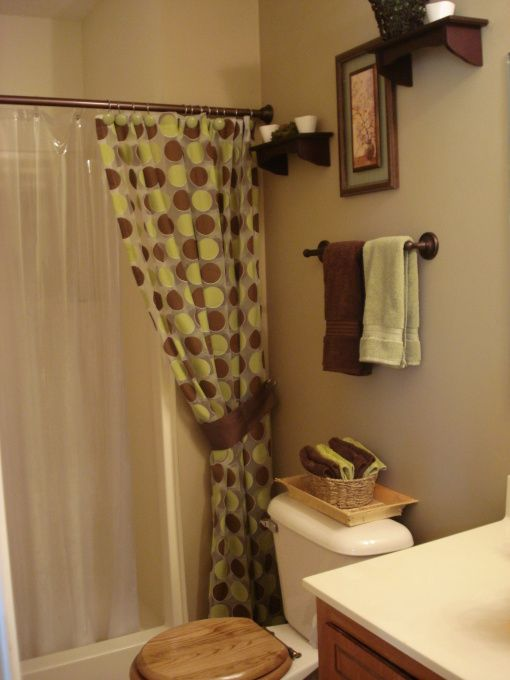 Green and brown bathroom ideas chocolate brown and for Green and brown bathroom set